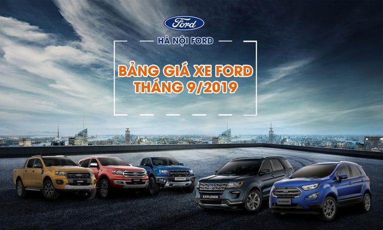 Bảng giá xe Ford mới nhất tháng 9/2019 tại Mỹ Đình Ford